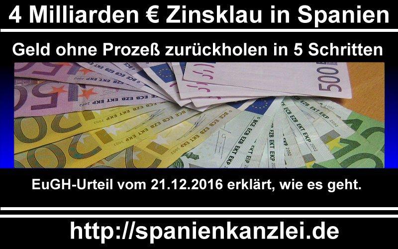 "Infografik ""4 Milliarden € Zinsklau in Spanien"""